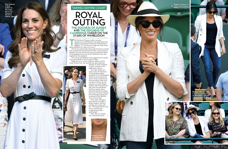 Kate and Meghan Wimbledon