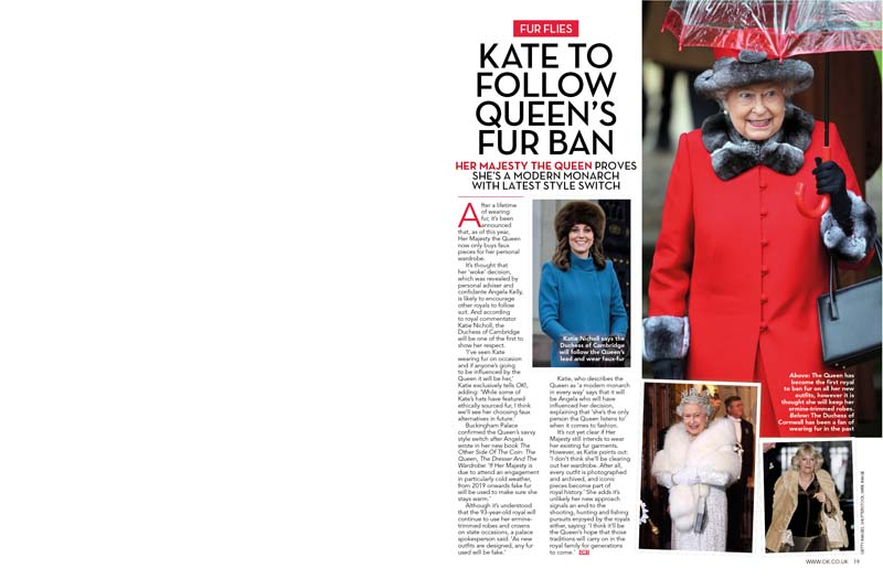Kate Royal Fur Ban